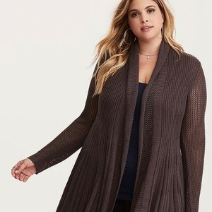 Torrid MIX STITCH FIT AND FLARE CARDIGAN SZ 2XL